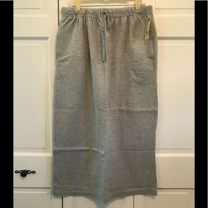 Cherokee Gray Velour Maxi Skirt